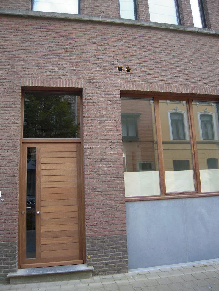 houten voordeur + ramen