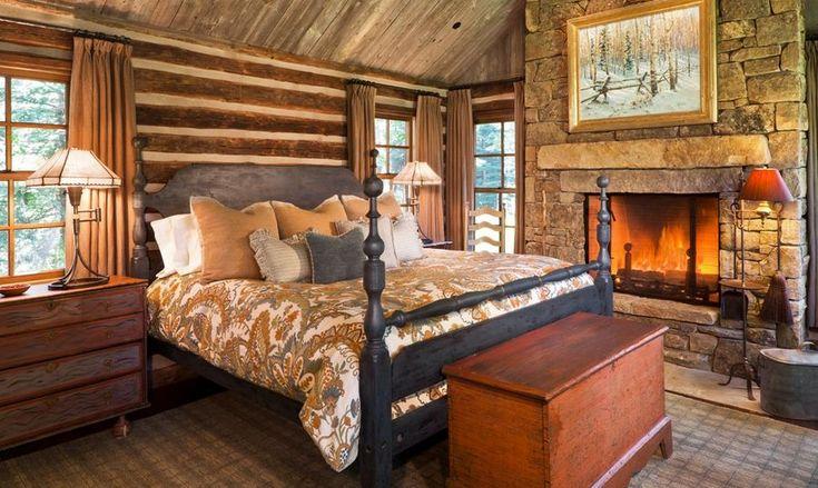 Дизайн интерьера спальни в деревенском стиле. Фото 1