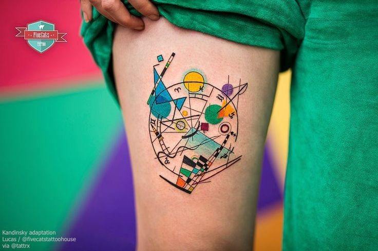 Lucas / FiveCats Tattoo | Buenos Aires Argentina Adaptation of Kandinsky fb.com/fivecatstattoo