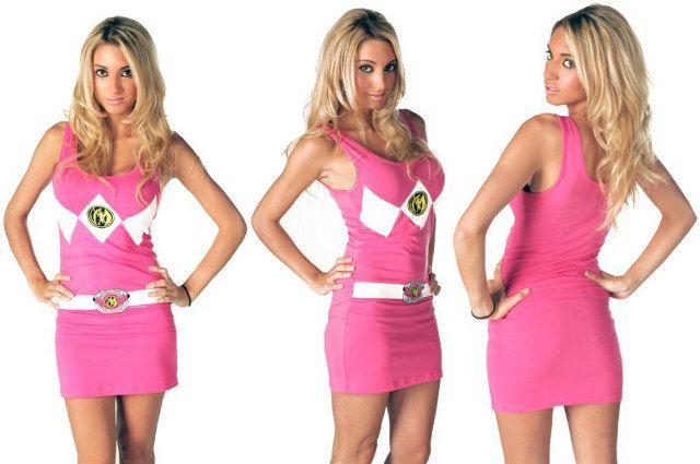 Pink Ranger mini dress?!?! Oh hellz yeah!