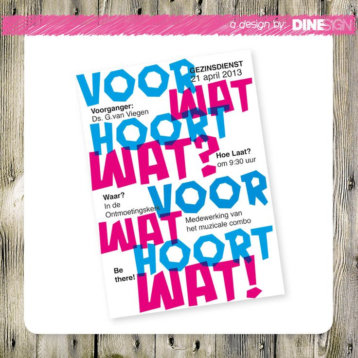 #poster #design #church www.dinesign.nl