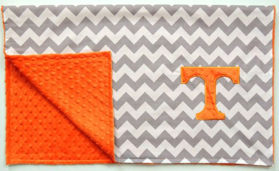 Tennessee Chevron Baby Blanket on Etsy, $36.00