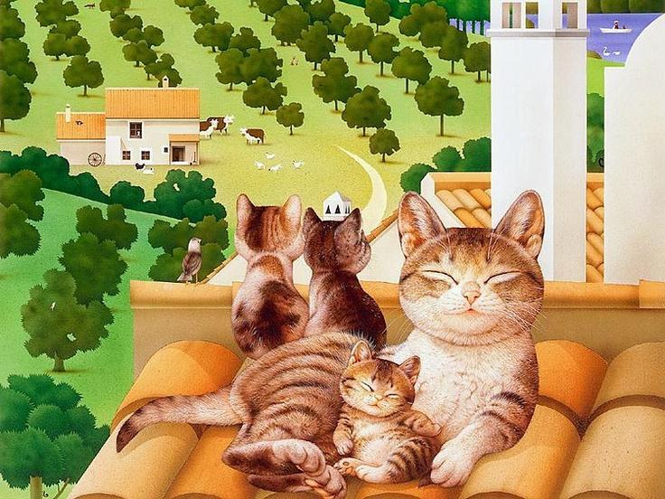 Кот дома картинка для детей
