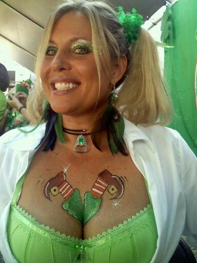 Ann Adams St Patrick S Day Face Body Painting Design