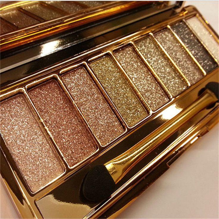 Hot 9 màu professional đẹp kim cương shimmer eyeshadow palette tự nhiên lâu dài trang điểm không thấm nước phấn mắt với bàn chải s399
