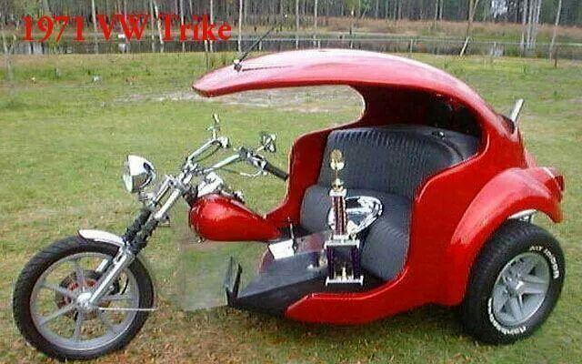 three seat harley trike | Via Rob Pearson | trikes | Vw trike, Trike motorcycle, Custom trikes