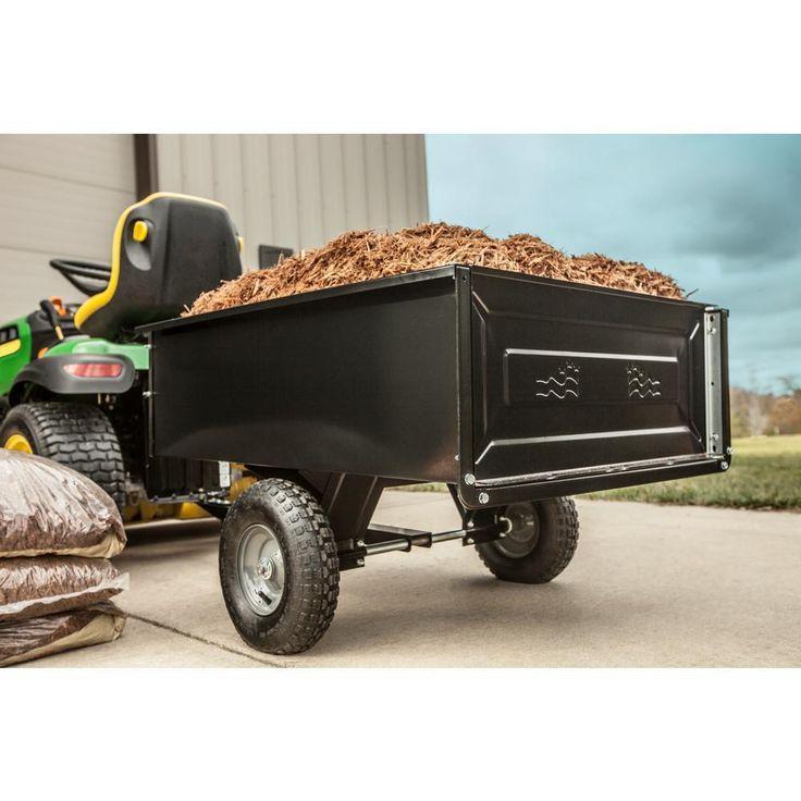 AGRI-FAB Dump Cart Garden Yard Lawn Mower Tractor Trailer Attachement-10 CU/FT | Home & Garden, Yard, Garden & Outdoor Living, Gardening Supplies | eBay!