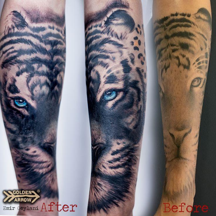 Tattoo Artist: Emir Geylani   Dövme düzeltme, kaplan dövmesi, tiger tattoo