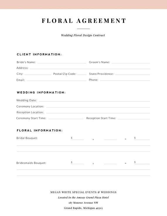 Client Booking Form Business Marketing Forms Bundle