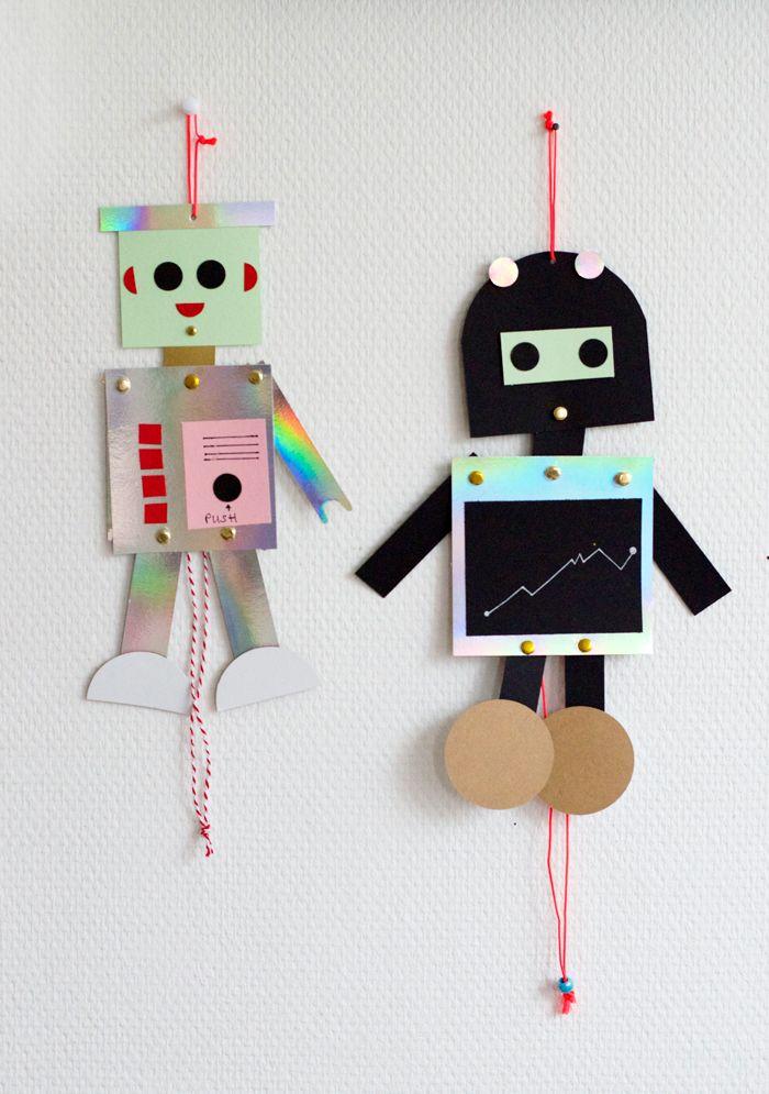 Bloesem kids | Kids craft - diy robot puppet | Wimke
