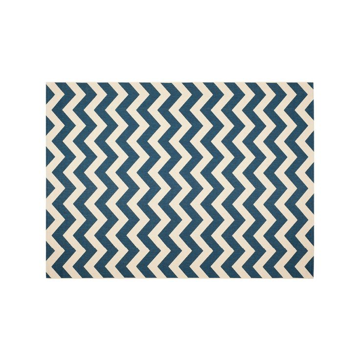 Safavieh Courtyard Zigzag Chevron Indoor Outdoor Rug, Blue, Durable