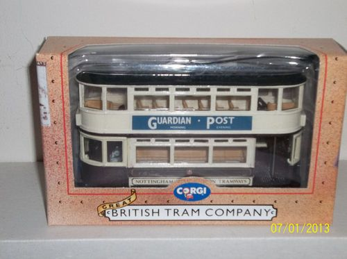 "Corgi ""Nottingham Tramways"" Closed Top Double Decker Tram 97287 | eBay"
