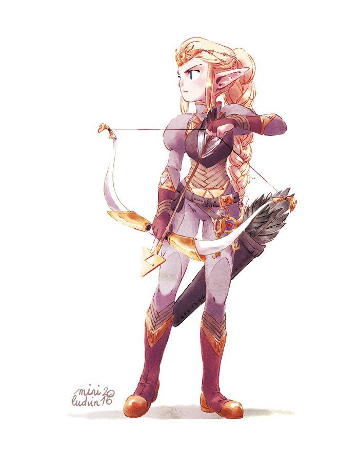 miniludvin: • [FR] J'ai réussi à la finir in extremis pour pouvoir participer au CDC ! Ouf ! Zelda princesse ^^ • [EN] I finished her just in time to enter the CDC ! Princess Zelda ^^