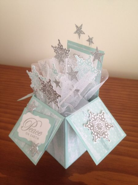 Christmas Card in a Box - love the subtle colors and tulle