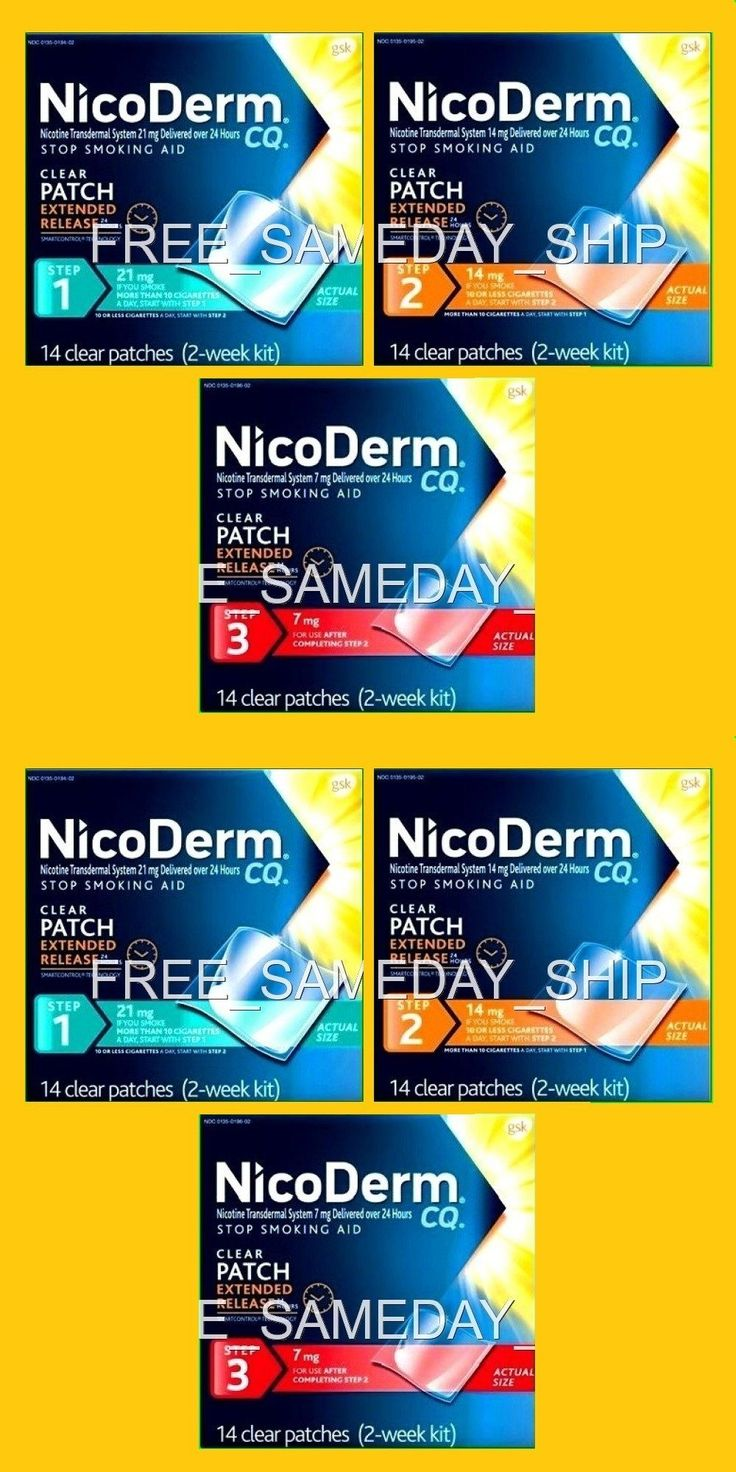 Patches: Free Sameday Ship__Nicoderm Cq Step 1 2 3 __Exp 2018__6-Week 42 Nicotine Patches -> BUY IT NOW ONLY: $96.94 on eBay!