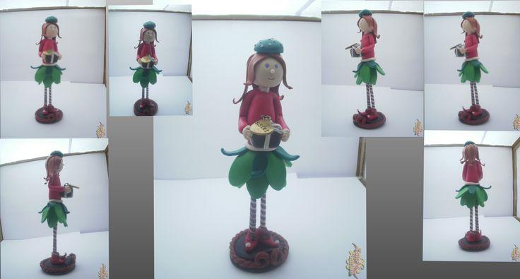 Boneca Natal, boneca feita com cerâmica plástica. Feito à mão. Peça única. Fimo polymer Clay