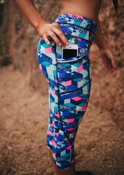 Pocket Capris - Pixel Crush         Incredible quality for an incredible price. http://www.senitaathletics.com