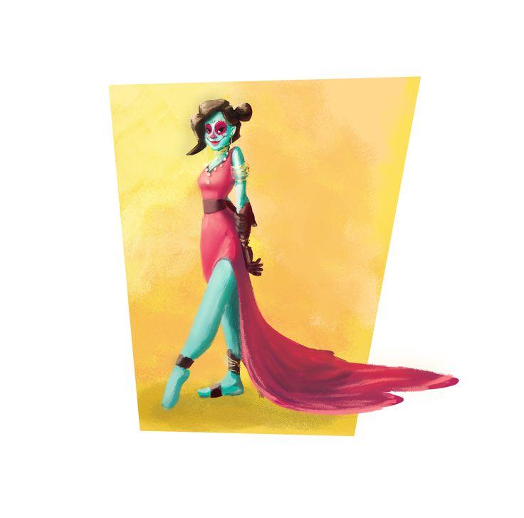 """""""Catalina"""" death's daughter  Character Design for """"Caracter Design Challenge""""  #dia de muertos"""