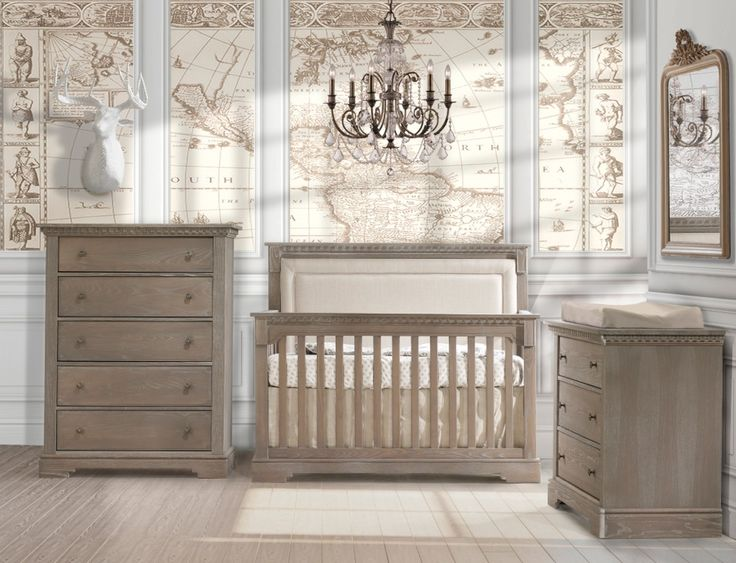 "The new PROVENCE now in stores. We are the only nursery furniture producer offering this rustic, smooth quality brushed finish on our new collections. This finish brings out the natural wood grain with a natural wood feel. If you are looking for a natural wood feel and look, this is the perfect collection for your precious baby's nursery or big kid room with the crib that converts to a full size 54"" double bed !"