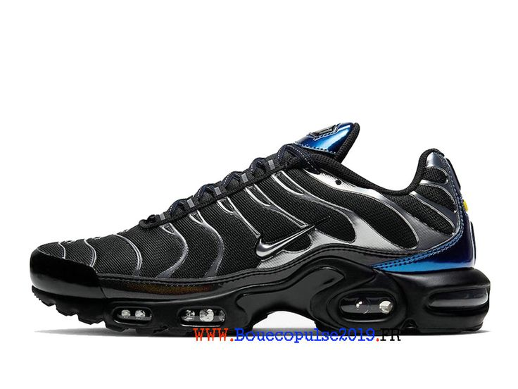Nike Air Max Tn Plus Argent noir bleu Chaussures de basket vintage ...