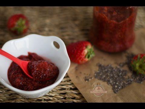 Mermelada de Fresa y Semillas Chía Sin Azúcar - Postre Saludable