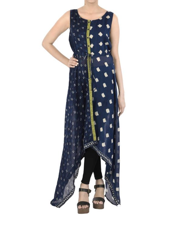 Asymmetric Indigo dress  |  Shop now: www.thesecretlabel.com