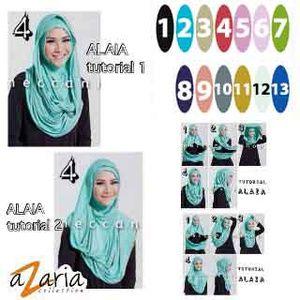 Hijab Alaia Zaskia Mecca.  Bahan : spandek rayon super (tebal).