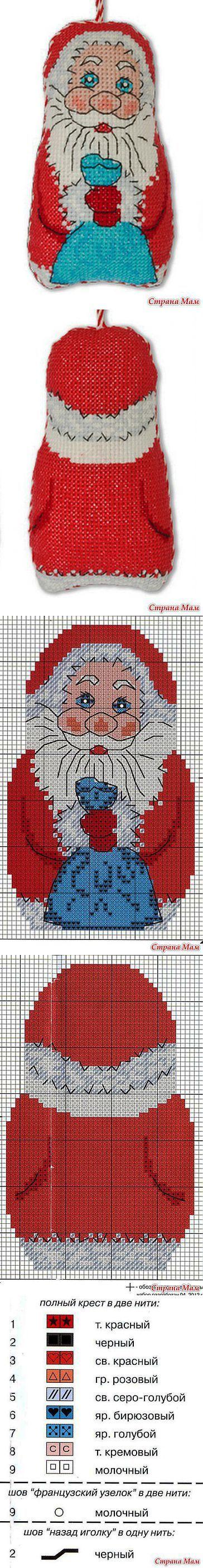 Декоративная подвеска 'Дед Мороз': Дневник группы 'Бискорню и другие 'кривульки'' - Страна Мам