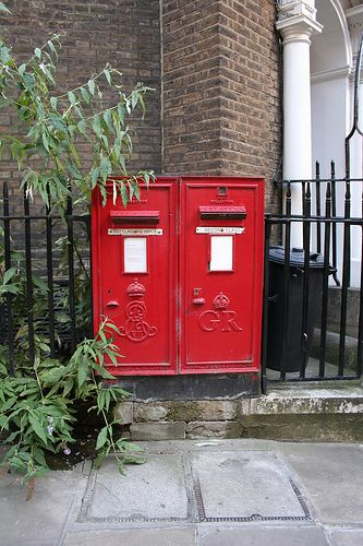 Royal Mail Post Boxes from two reigns : Edward VII and George V : City of London by pomphorhynchus, via Flickr