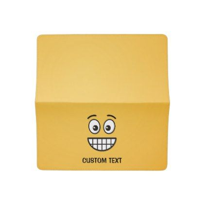 #Grinning Face with Open Eyes Checkbook Cover - #emoji #emojis #smiley #smilies