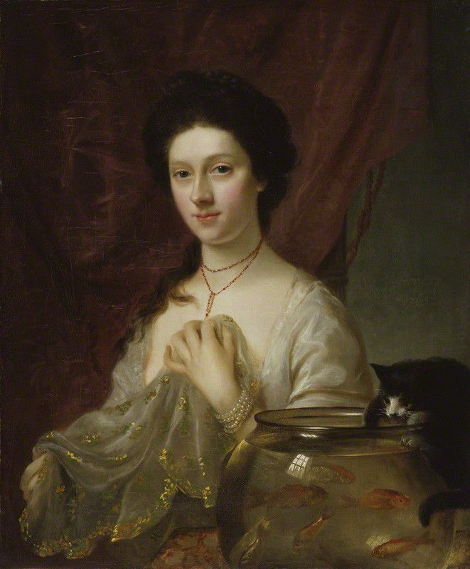 """Kitty Fisher-When Lady Coventry asked her about her dress she told her to ask her husband, The Earl of Coventry, because he was the one who gave it to her. She was famous in her day, part actress and courtesan. Lived extravagantly, reportedly eating a thousand guinea note with toast and butter and inspired the rhyme:   """"Lucy Locket lost her pocket,  Kitty Fisher found it;  But ne'er a penny was there in't  Except the binding round it.""""  Died at the age of thirty, 4 months after marriage."""