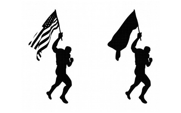 Man Waving The American Flag Graphic By Crafteroks Creative Fabrica Sketch Book American Flag Flag