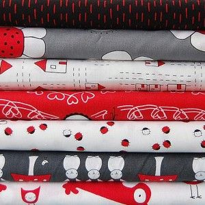 The Red Thread fabric bundle from Warp & Weft   Exquisite Textiles
