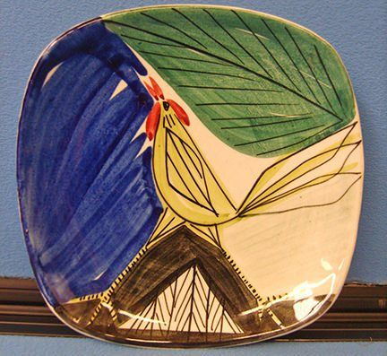 Vintage Stavangerflint cockerel dish for sale on eBay for Charity by & in support of the Woking Hospice