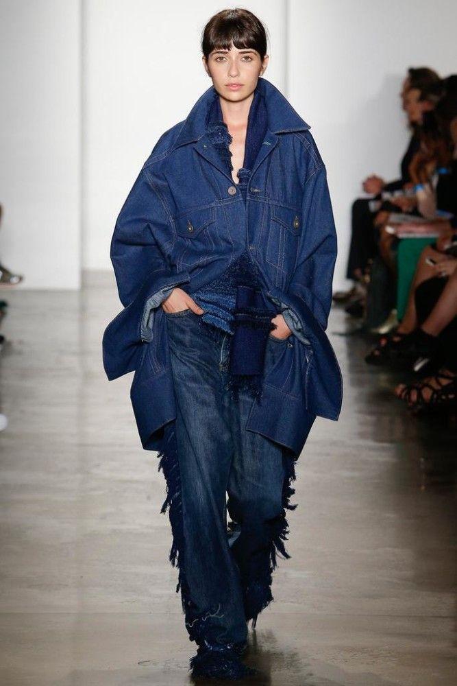 Rihanna's Giorgio Baldi Matthew Dolan Fall 2014 Oversized Denim Jacket