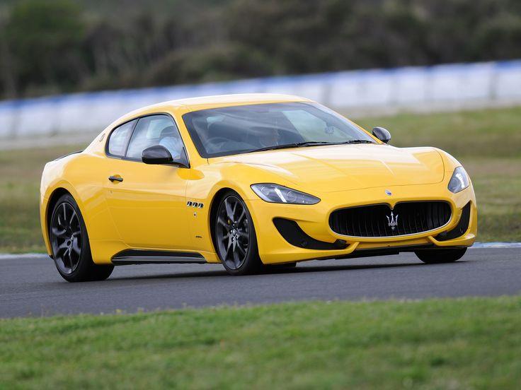 Yellow Maserati GranCabrio
