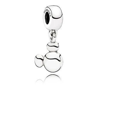 Mickey as a silver dangle charm #PANDORAlovesDisney
