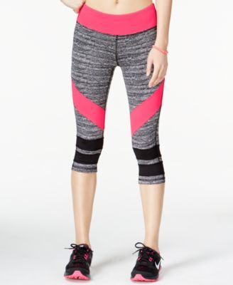 Material Girl Active Juniors' Game On Graphic Cropped Leggings, Only at Macy's