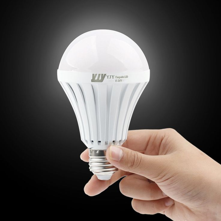 YJY Rechargeable Emergency LED Light Bulb A19 Lamp - Still Work After Power Outage - 12W Warm 3500K E27 E26 110V 120V 220V - 1 Pack