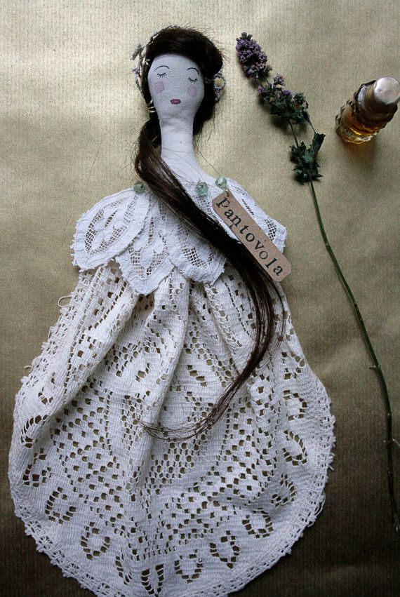 Little Dotty collectable textile art doll soft by pantovola