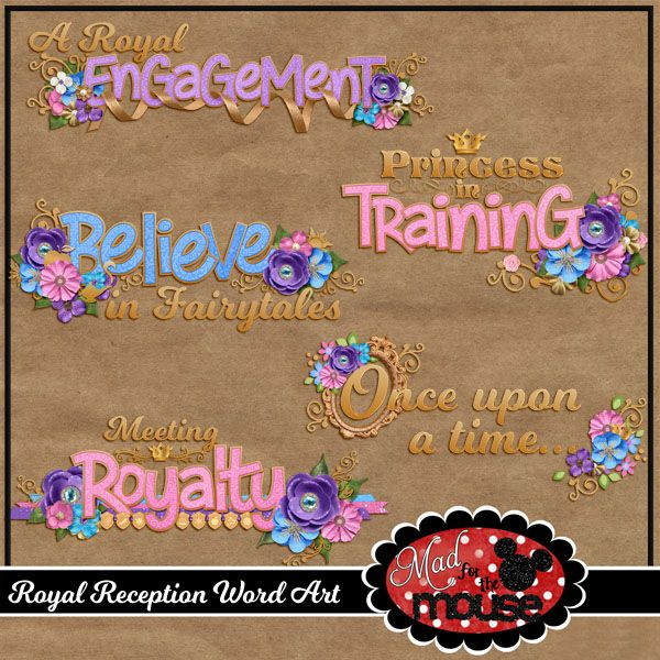 Royal Reception Word Art