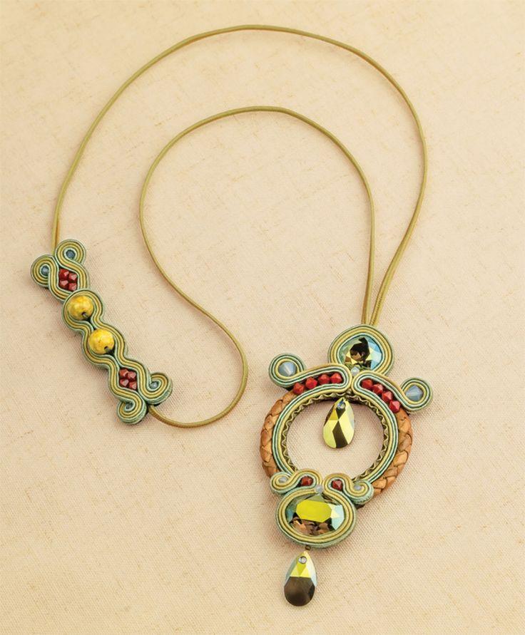 Apollo necklace, by Csilla Papp from Sensational Soutache