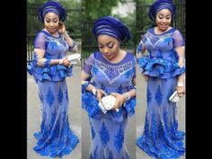 Unique Lace Aso Ebi Styles 2017 for Beautiful Ladies 2017 Collection - YouTube