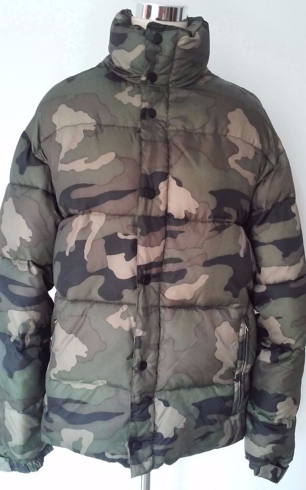 OLD NAVY Men's PUFFER COAT Winter Jacket  Army Camouflage Sz M Medium #OldNavy…