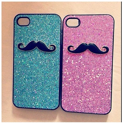 mustache cases.....kind of obsessed with them :)