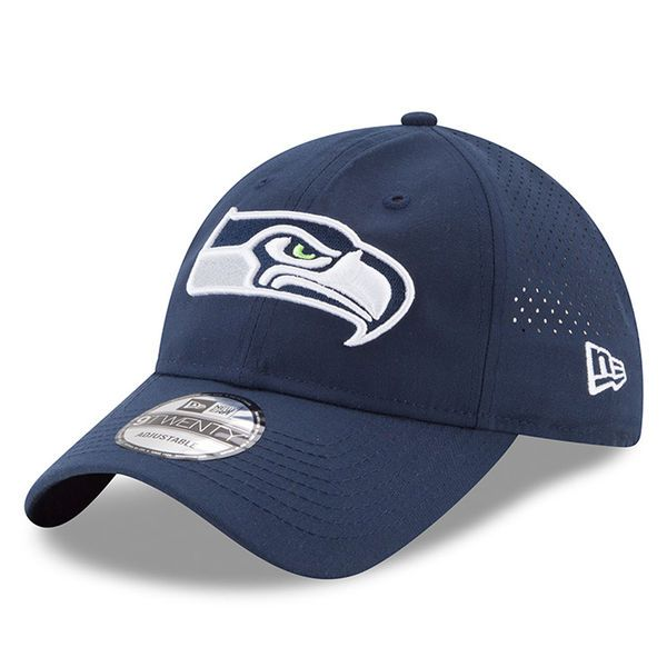 Seattle Seahawks New Era Youth 2017 Training Camp Official 9TWENTY Adjustable Hat - Navy