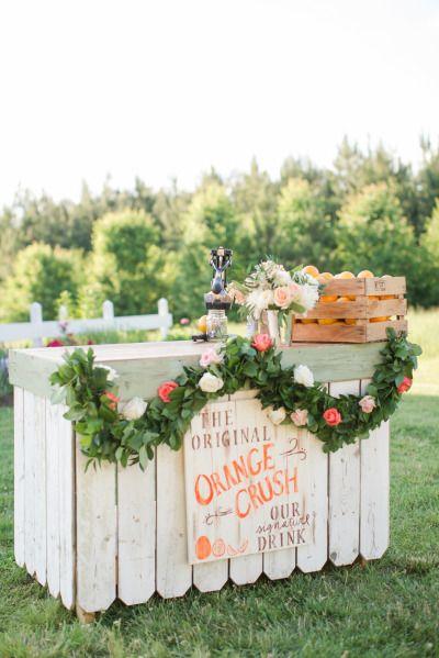 Wedding bar: http://www.stylemepretty.com/2015/04/21/rustic-chic-farmhouse-wedding/   Photography: Katelyn James - http://katelynjames.com/