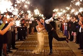 Image result for wedding sparkler send off