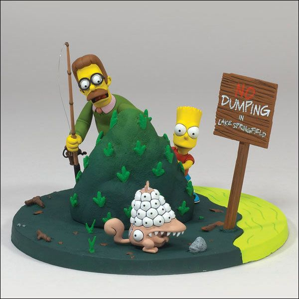 "THE SIMPSONS MOVIE figure - Bart and Flanders ""What are you lookin' at?"" NEW #Simpsons #ebay #seanmichaelgeek"