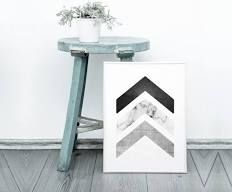 Chevron wall art - Printable geometric art - concrete ...